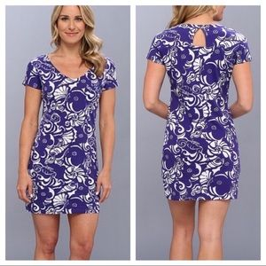 Lilly Pulitzer Daniella purple keyhole dress S
